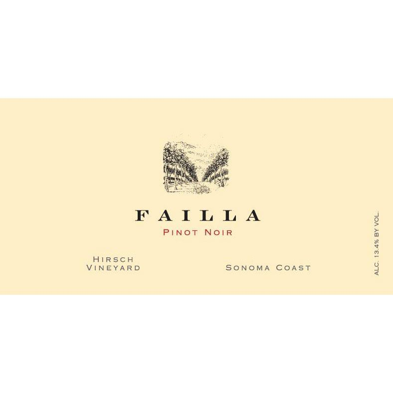 Failla Hirsch Vineyard Pinot Noir 2017  Front Label
