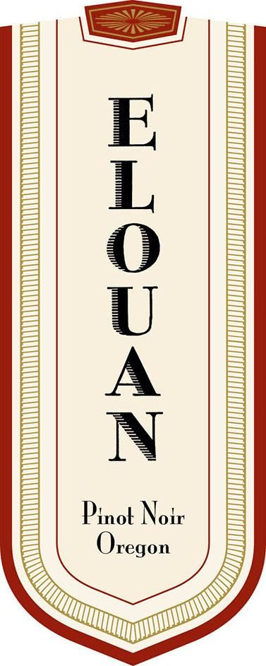 Elouan Pinot Noir (375 ML half-bottle) 2017  Front Label