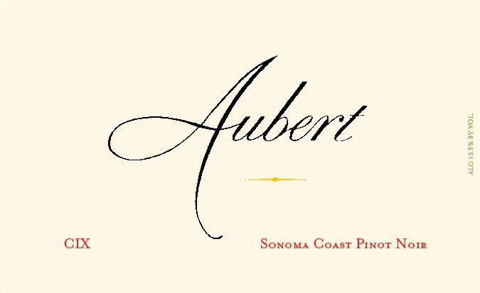 Aubert CIX Vineyard Pinot Noir 2016 Front Label
