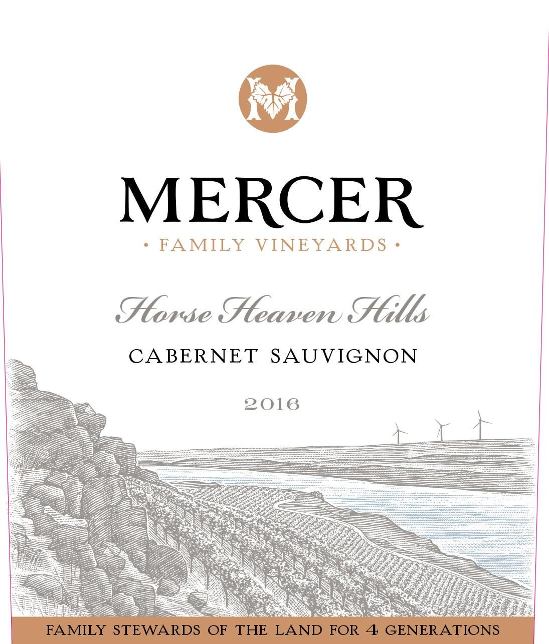 Mercer Family Vineyards Cabernet Sauvignon 2016  Front Label