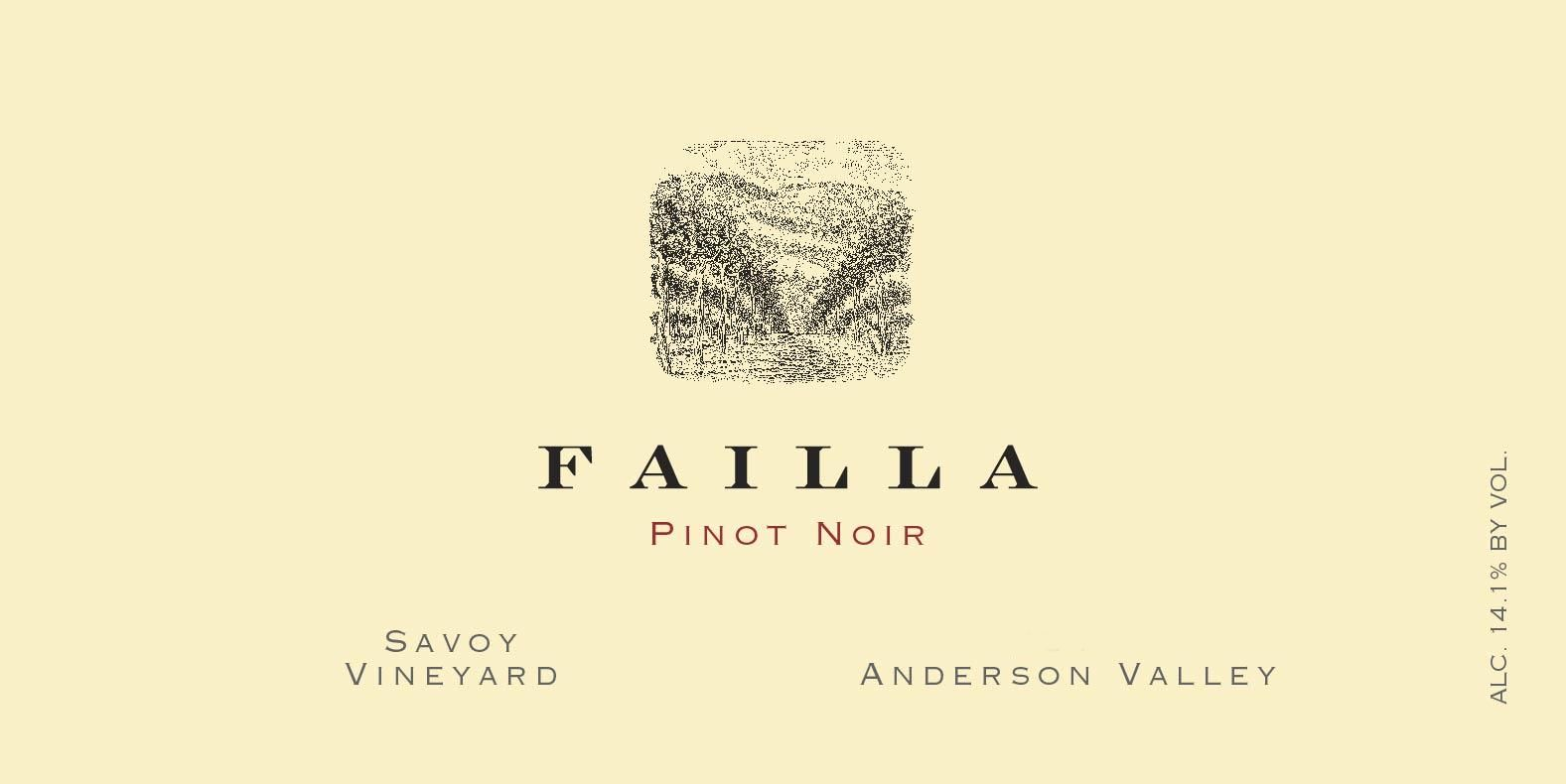 Failla Savoy Vineyard Pinot Noir 2018  Front Label