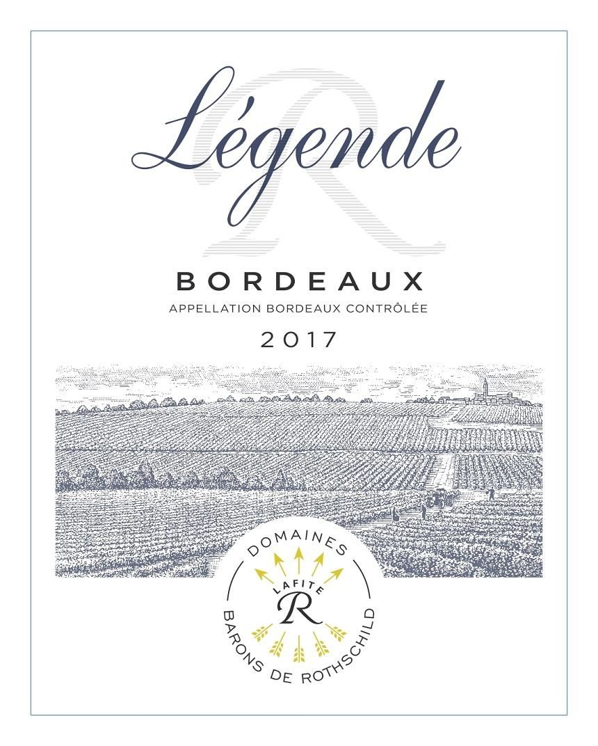 Domaines Barons de Rothschild Legende Bordeaux Rouge 2017 Front Label