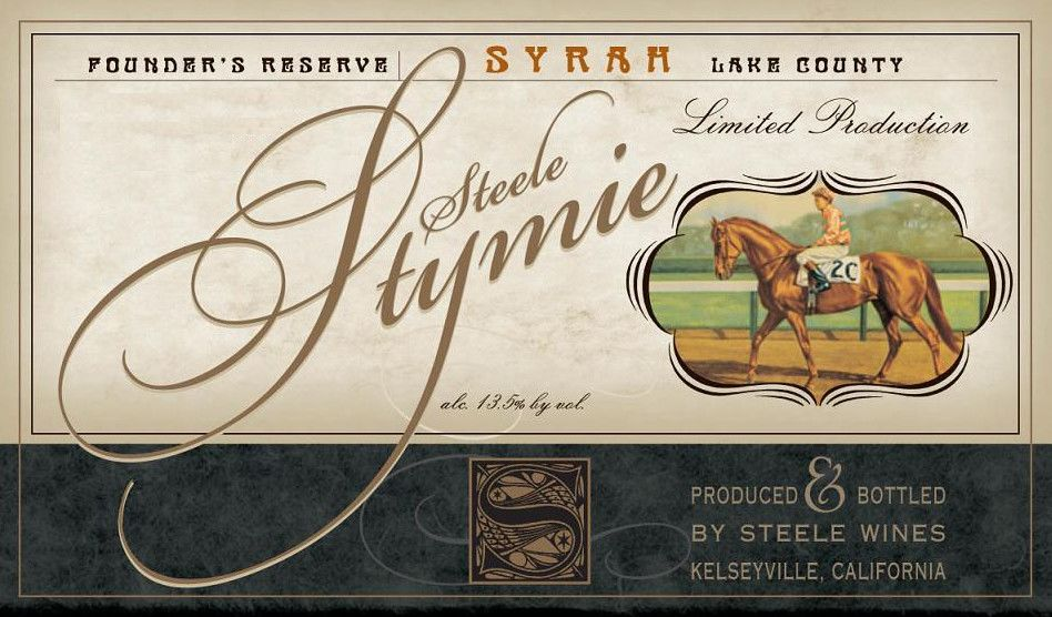 Steele Wines Steele Stymie Founders Reserve Syrah 2014  Front Label