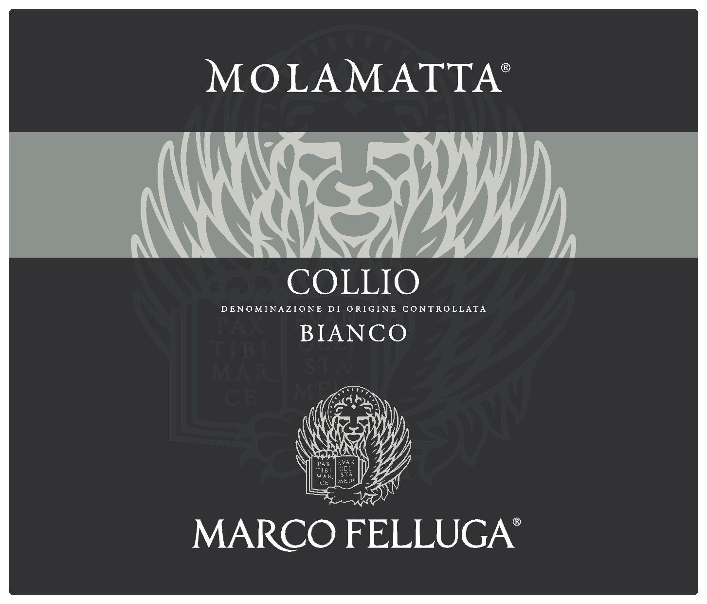 Marco Felluga Molamatta Collio Bianco 2014  Front Label