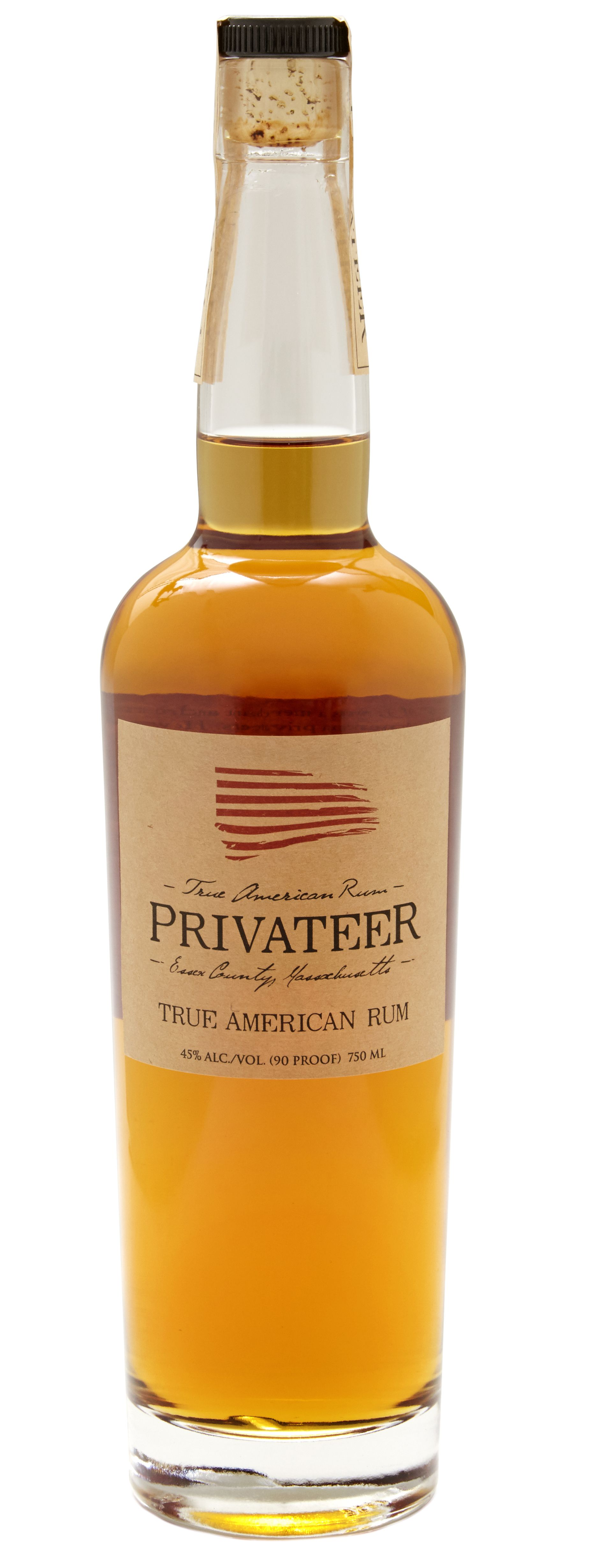 Privateer True American Amber Rum  Front Bottle Shot