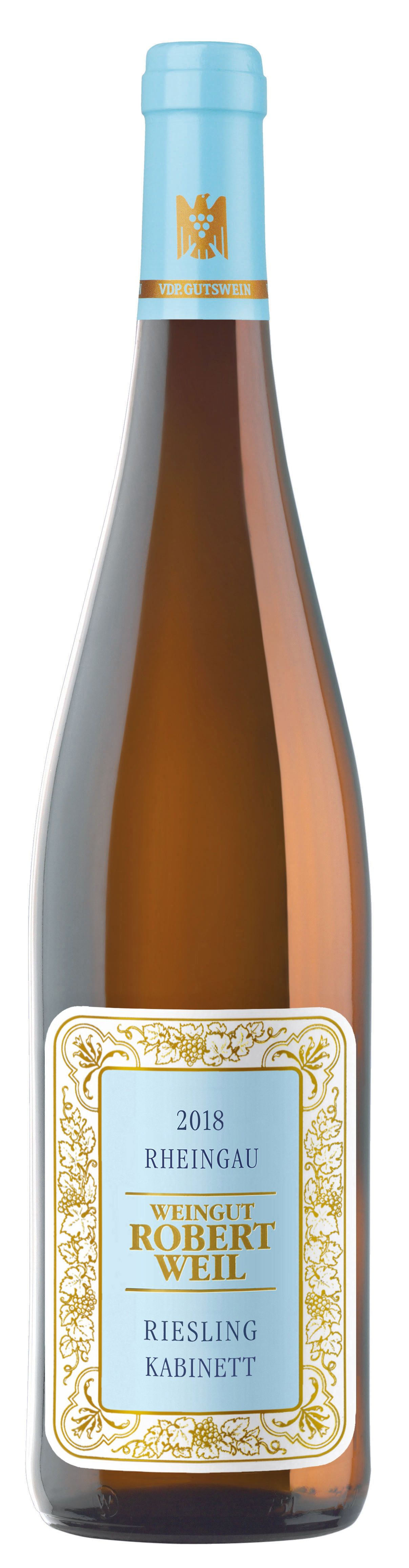 Robert Weil Estate Riesling Kabinett 2018 Front Bottle Shot