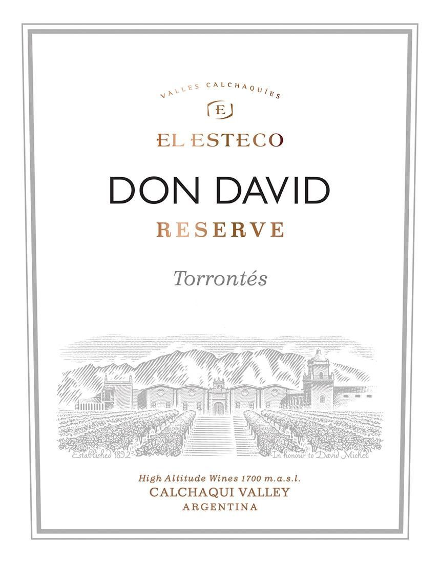El Esteco Don David Reserve Torrontes 2019  Front Label
