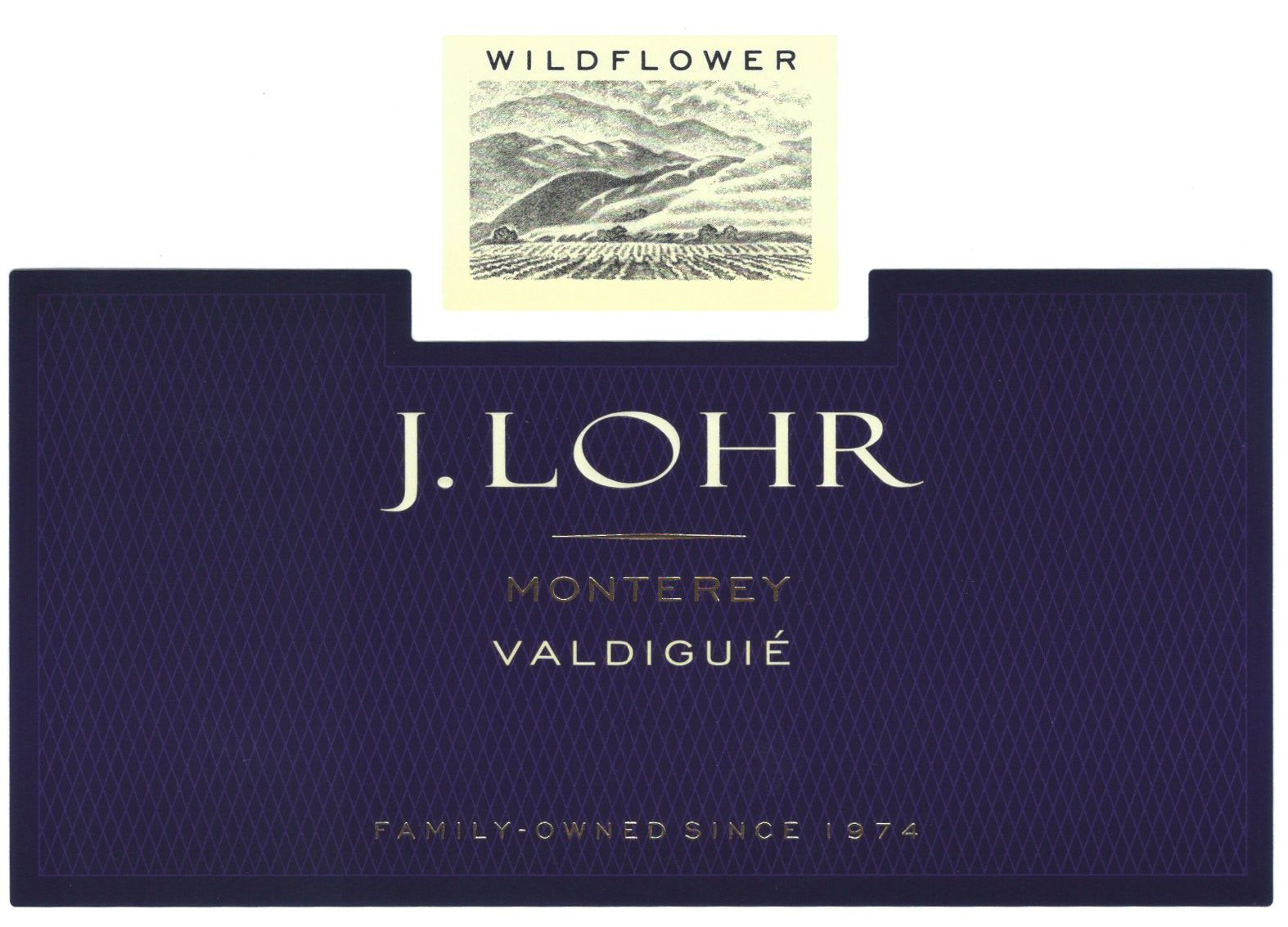 J. Lohr Wildflower Valdiguie 2017  Front Label