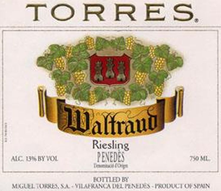 Torres Waltroud Riesling 2012  Front Label
