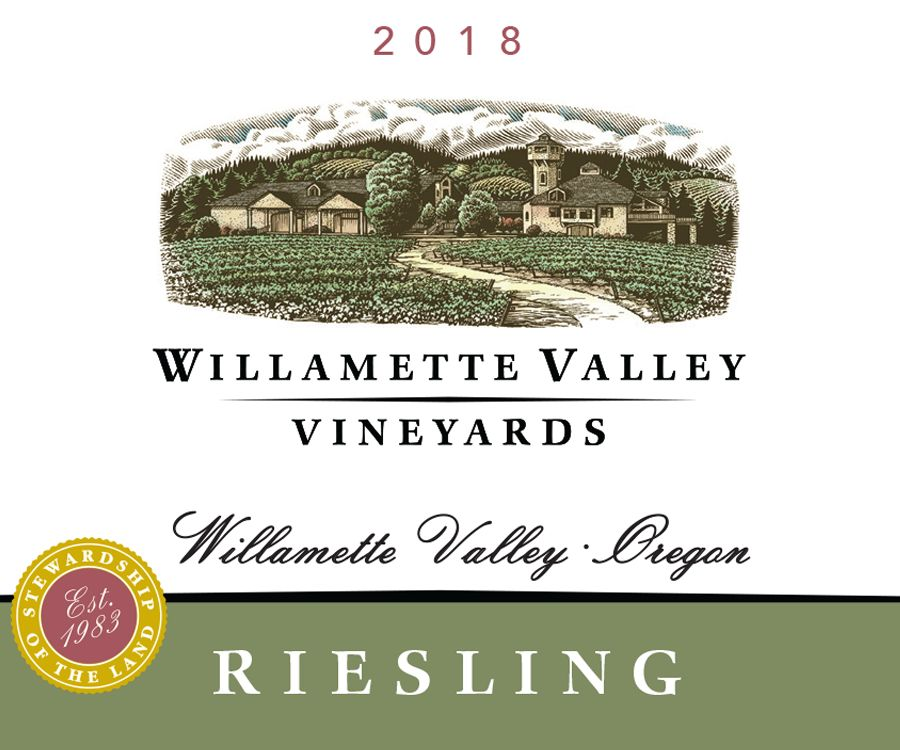 Willamette Valley Vineyards Riesling 2018  Front Label