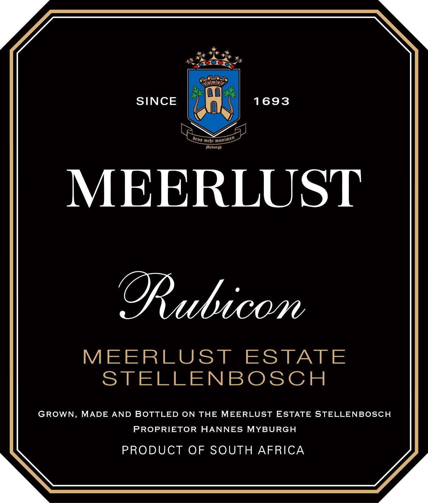 Meerlust Rubicon 2016  Front Label