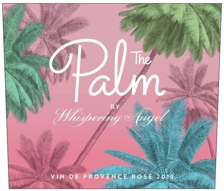The Palm by Whispering Angel Rose 2019  Front Label