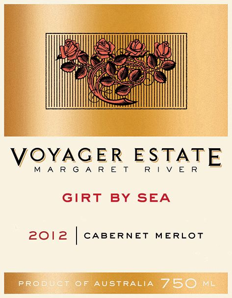 Voyager Estate Girt By Sea Cabernet Merlot 2012  Front Label
