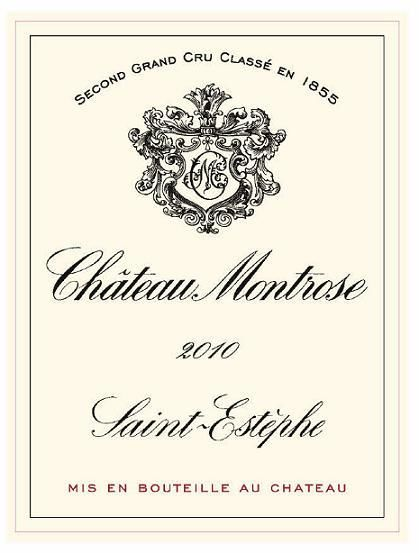 Chateau Montrose (stained label) 2010  Front Label