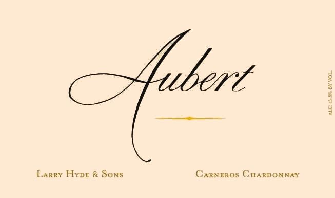 Aubert Larry Hyde & Sons Vineyard Chardonnay 2018  Front Label