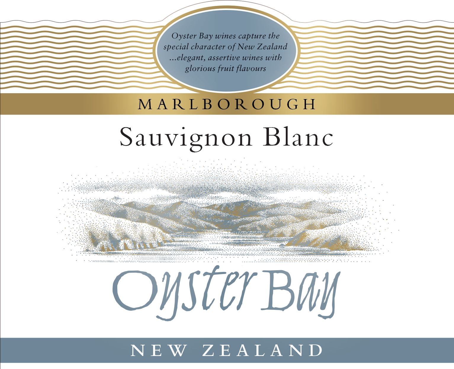 Oyster Bay Marlborough Sauvignon Blanc 2019  Front Label