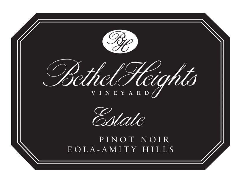 Bethel Heights Estate Pinot Noir 2018  Front Label