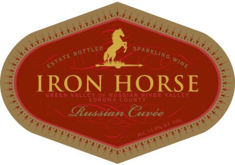 Iron Horse Russian Cuvee 2014 Front Label