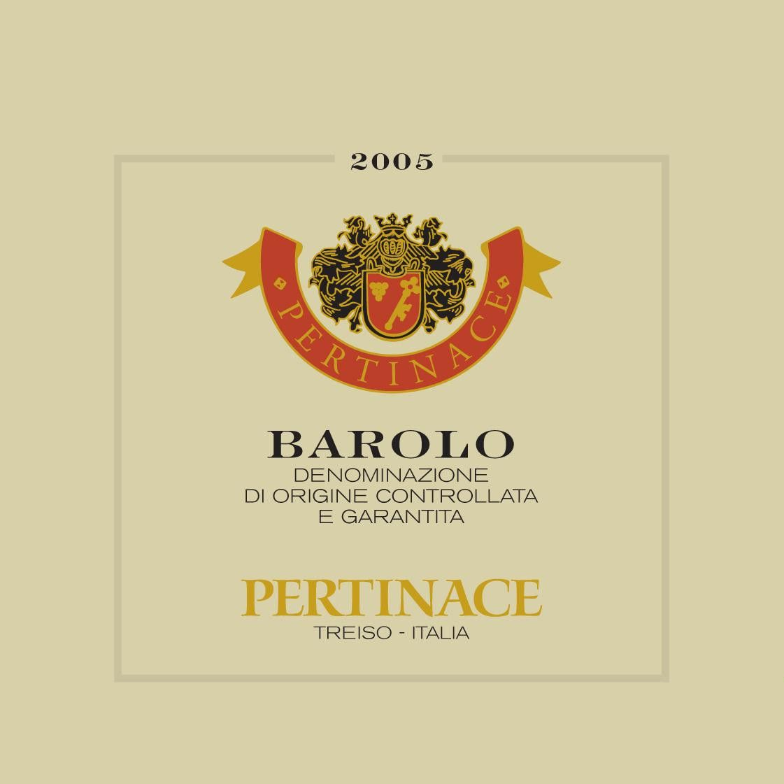 Pertinace Barolo 2005 Front Label