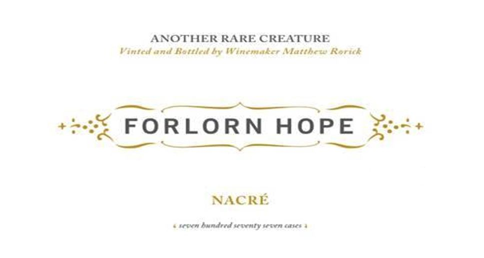 Forlorn Hope Yount Mill Vineyard Nacre Semillon 2012  Front Label