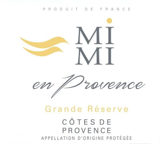 Mi Mi en Provence Grand Reserve Rose 2020  Front Label