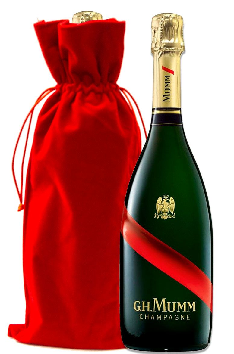 wine.com G.H. Mumm Brut Grand Cordon with Red Velvet Gift Bag  Gift Product Image
