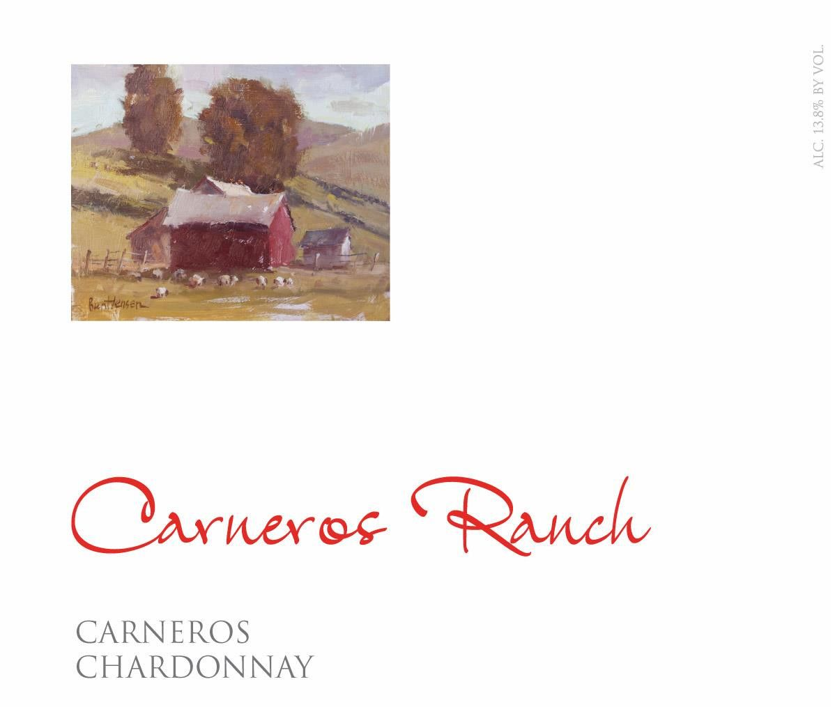 Carneros Ranch Chardonnay 2017 Front Label