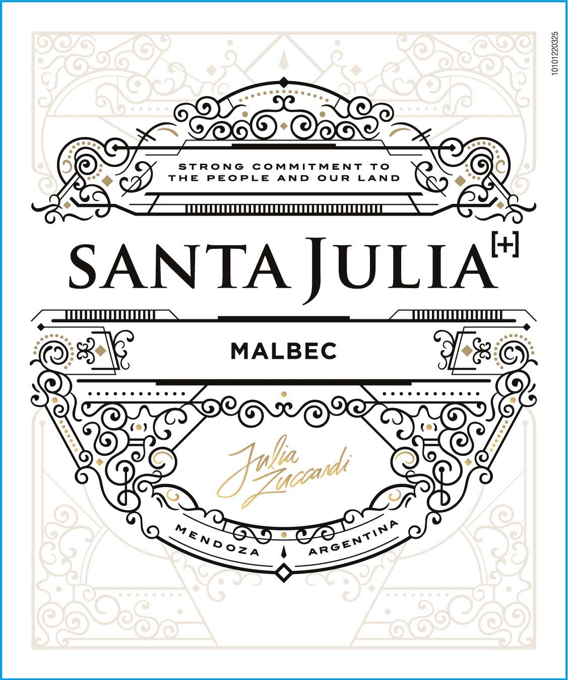 Santa Julia Plus Malbec 2020  Front Label