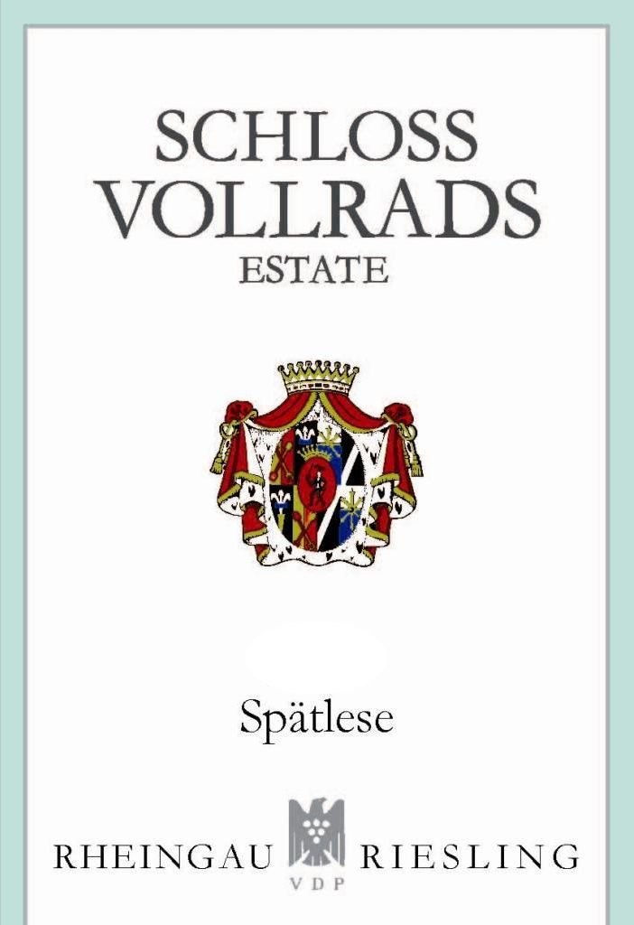 Schloss Vollrads Riesling Spatlese 2016  Front Label