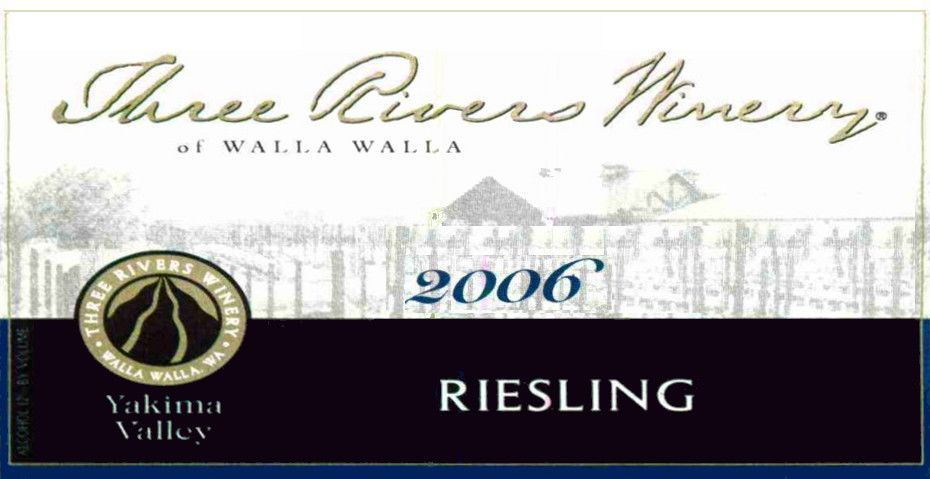Three Rivers Riesling 2006 Front Label