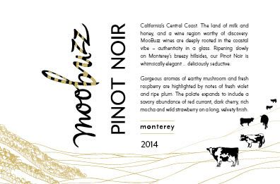 Moobuzz Monterey Pinot Noir 2014 Front Label