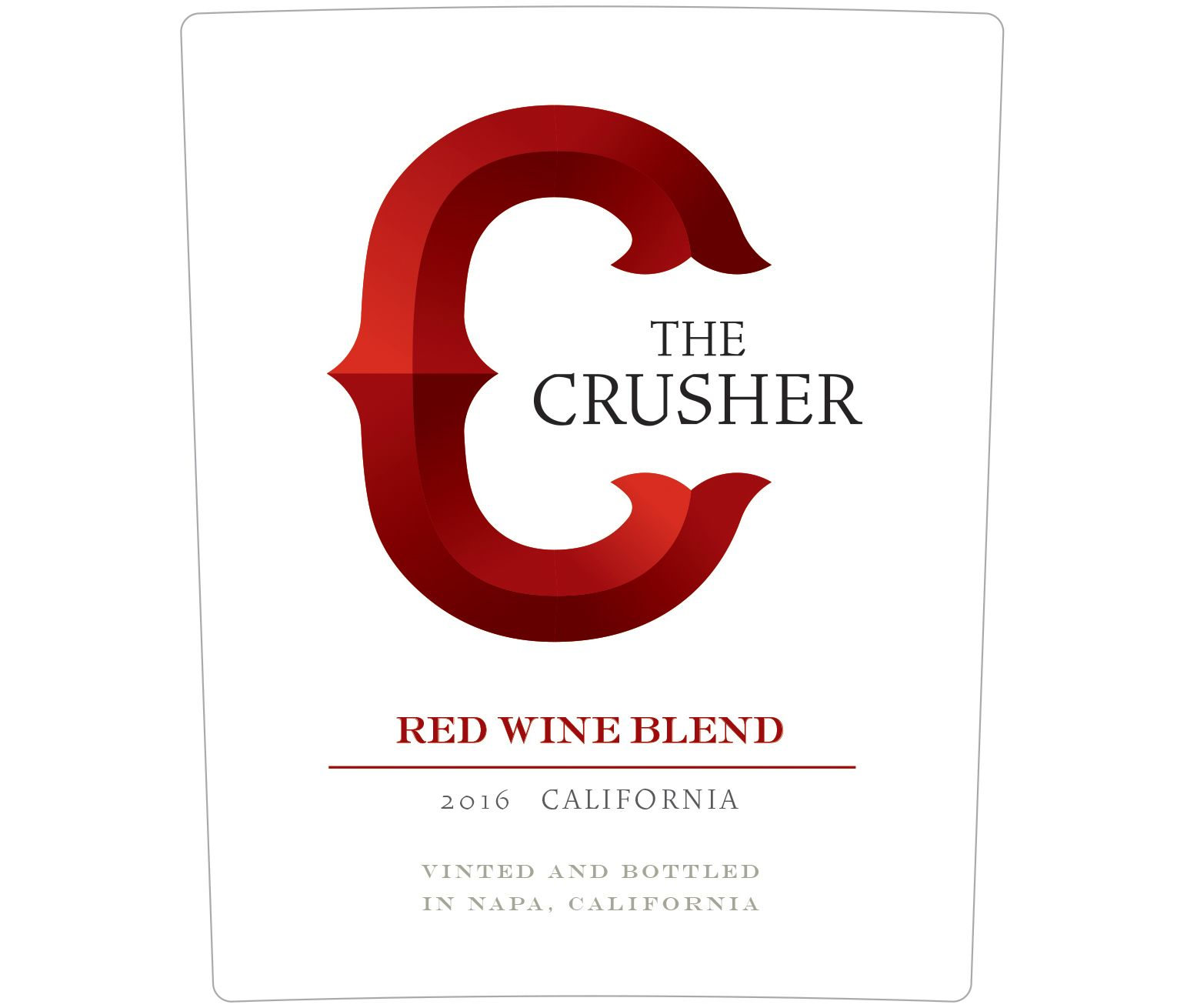 The Crusher Grower's Selection Red Blend 2016 Front Label