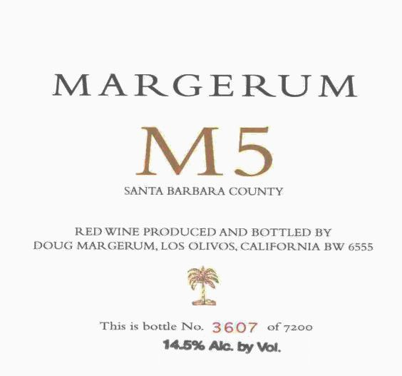 Margerum M5 Red 2008 Front Label