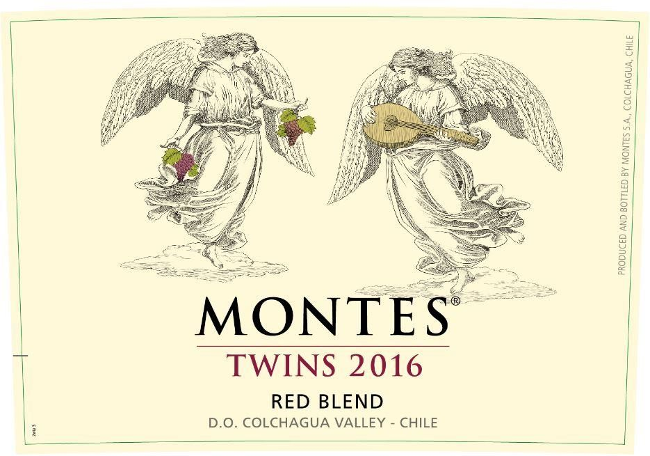 Montes Twins Red Blend 2016 Front Label