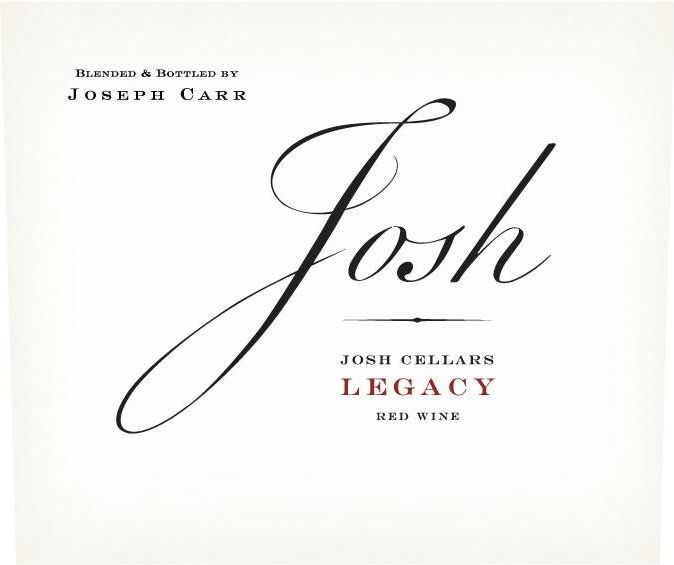 Josh Cellars Legacy Red Blend 2018  Front Label