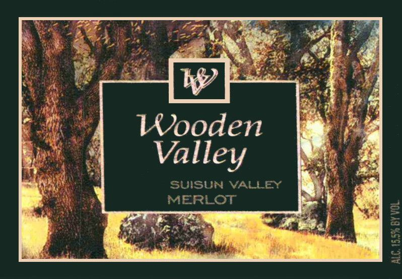 Wooden Valley Winery Merlot 2015 Front Label