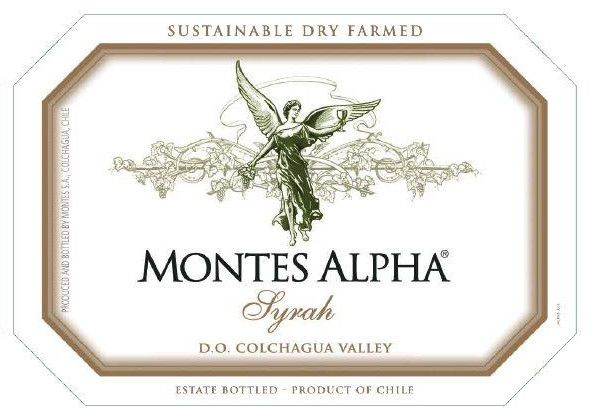 Montes Alpha Series Syrah 2017 Front Label