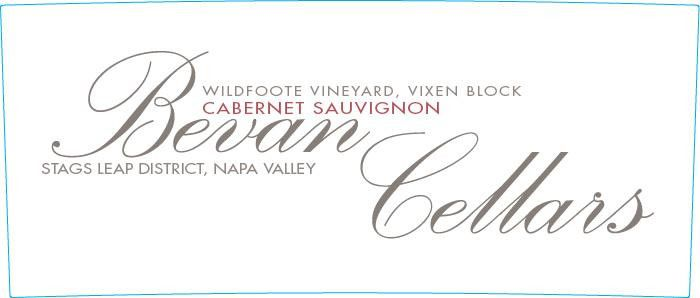Bevan Cellars Wildfoote Vineyard Vixen Block Cabernet Sauvignon 2015 Front Label