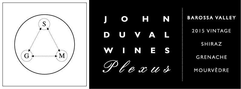John Duval Plexus Red 2015  Front Label