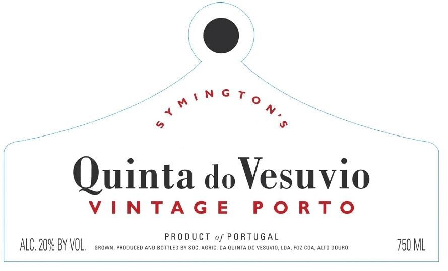 Quinta do Vesuvio Vintage Port 2016 Front Label
