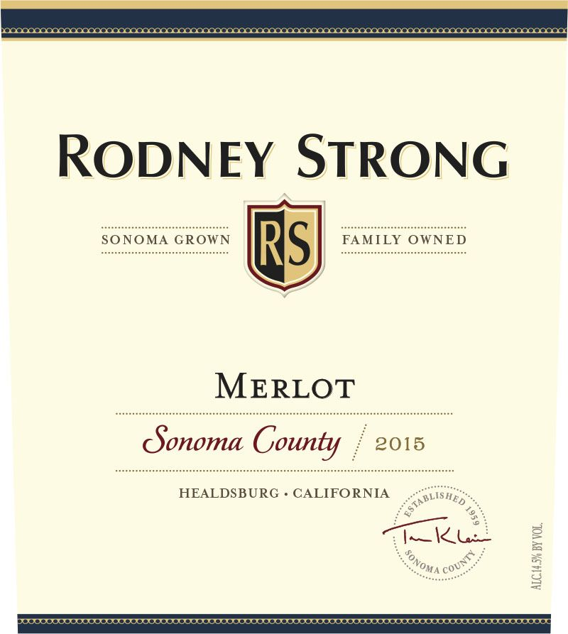 Rodney Strong Sonoma Merlot 2015 Front Label