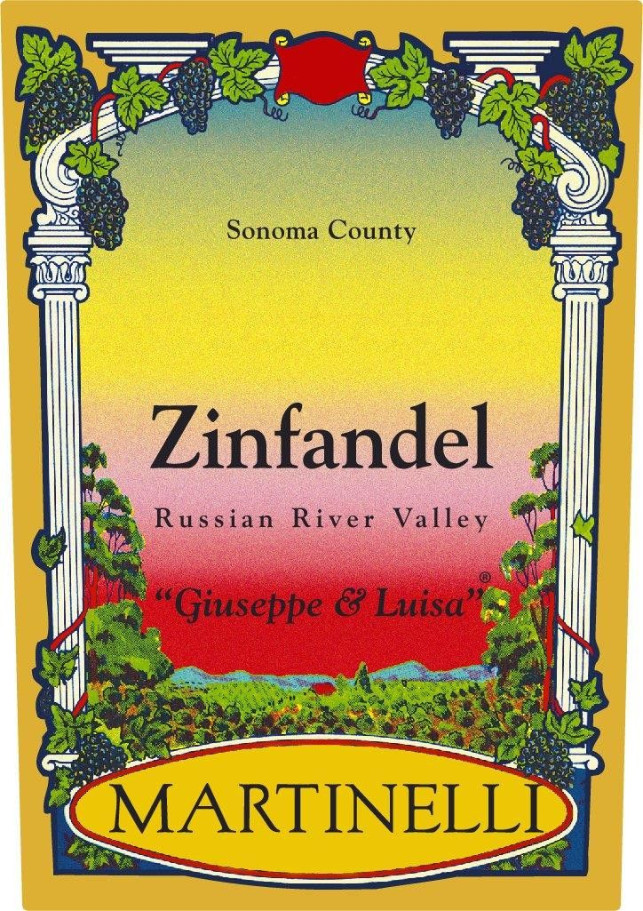 Martinelli Giuseppe and Luisa Zinfandel 2019  Front Label