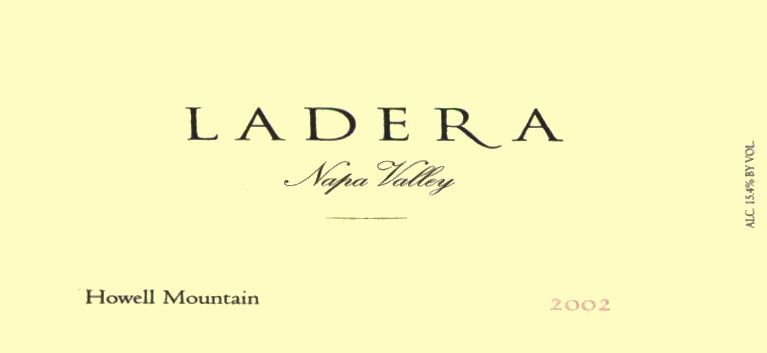 Ladera Howell Mountain Cabernet Sauvignon 2002 Front Label