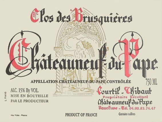 Clos des Brusquieres Chateauneuf-du-Pape Red 2012 Front Label