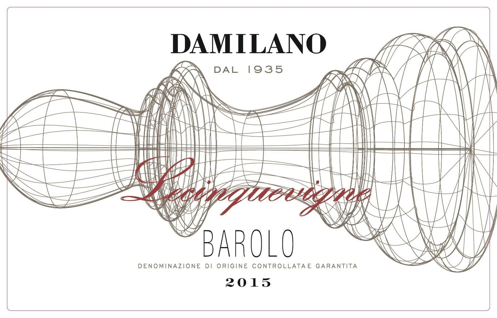 Damilano Barolo Lecinquevigne (375ML half-bottle) 2015  Front Label