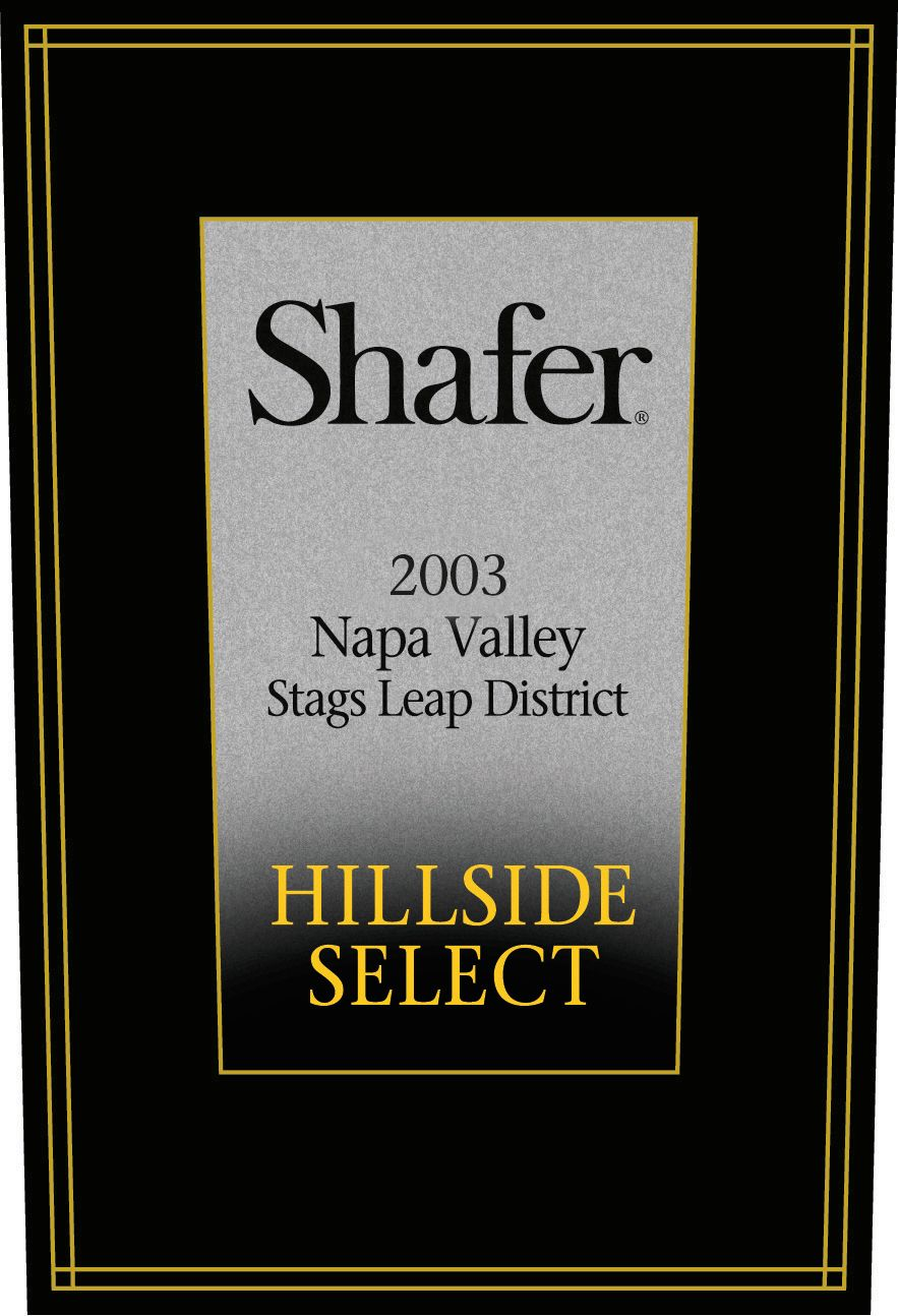 Shafer Hillside Select Cabernet Sauvignon (3 Liter Bottle) 2003  Front Label