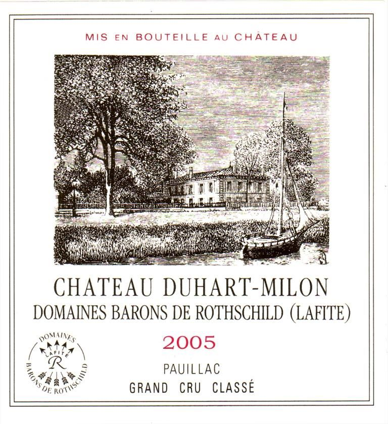 Chateau Duhart-Milon (scuffed label - 1.5 Liter Magnum) 2005 Front Label