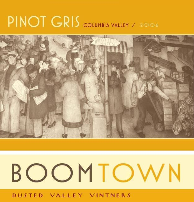 Boomtown by Dusted Valley Pinot Gris 2006  Front Label