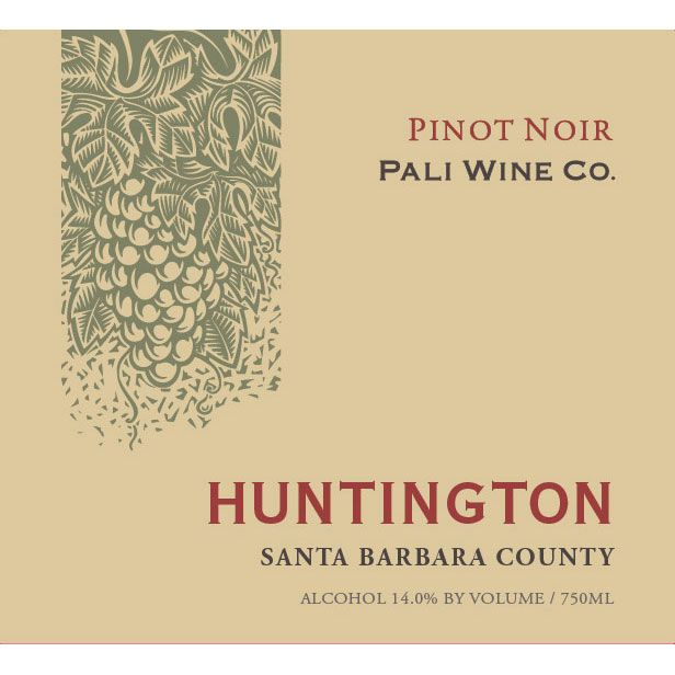 Pali Wine Co Huntington Pinot Noir 2017 Front Label