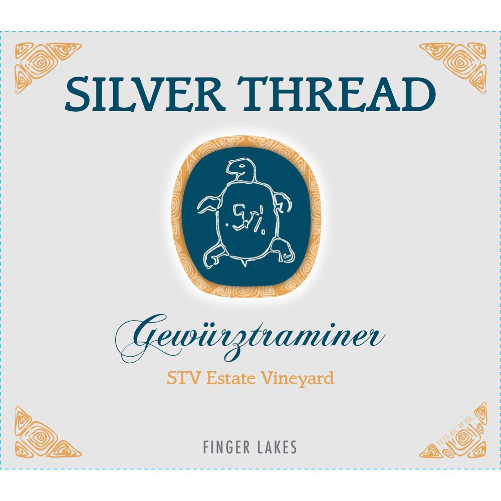 Silver Thread STV Estate Vineyard Gewurztraminer 2018  Front Label